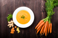 Carrot ginger soup Stock Photography