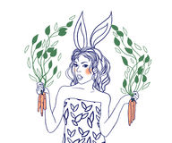 Carrot girl Stock Photos