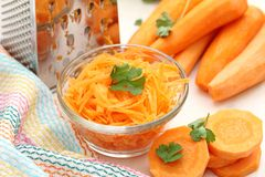 Carrot in a glass cup Royalty Free Stock Photo
