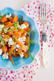 Carrot and goatcheese salad Stock Photo