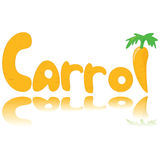 Carrot graphic Royalty Free Stock Image