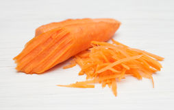Carrot, grated carrots Royalty Free Stock Image