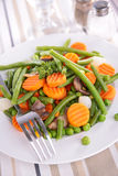 Carrot and green bean Royalty Free Stock Photos