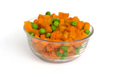 Carrot and green peas Royalty Free Stock Images