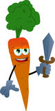 Carrot guard with sword Stock Photography