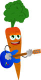 Carrot guitar player Royalty Free Stock Photo