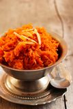 Carrot halwa - Diwali sweet made of carrots milk and sugar Stock Image