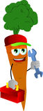 Carrot handyman Royalty Free Stock Images