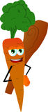 Carrot hiding a club behind his back Royalty Free Stock Photography