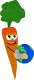 Carrot holding Earth Stock Photos