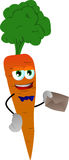 Carrot holding an envelope Stock Images