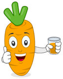 Carrot Holding a Fresh Squeezed Juice Stock Photos
