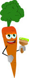 Carrot holding a paint brush Stock Photography
