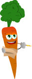 Carrot holding pen and papers Royalty Free Stock Images