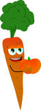 Carrot holding pumpkin Royalty Free Stock Photography