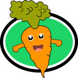 Carrot Icon Design Vector. Animal World Fun Design for website, marketing, public advertaising, fun design for wallpaper, drawing book, poster Stock Images