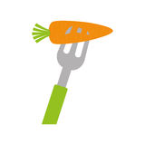 Carrot icon. Organic and Healthy food design. Vector graphic Royalty Free Stock Photography