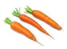 Carrot isolated on white background close up. Royalty Free Stock Photo