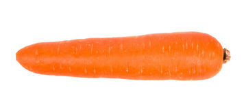 Carrot isolated on white background, top view Royalty Free Stock Photos