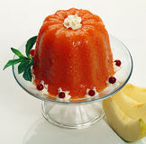 Carrot jelly with apples Stock Images