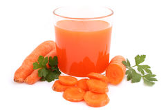Carrot juice. Isolated on white Stock Photography