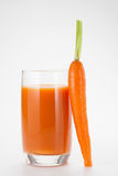 Carrot Juice. With fresh carrot Royalty Free Stock Image