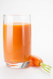 Carrot Juice. With fresh carrot Royalty Free Stock Photos