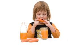 Carrot juice Royalty Free Stock Photo
