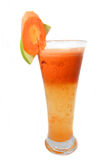 Carrot juice. Photograph of carrot juice drink stock photos
