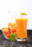 Carrot juice Stock Photography