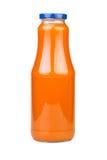 Carrot Juice Bottle Stock Photo