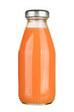 Carrot juice. Bottle of carrot juice isolated on white background Royalty Free Stock Photos