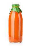 Carrot juice bottle Royalty Free Stock Images