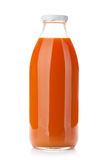 Carrot juice bottle Royalty Free Stock Photo