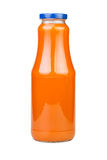 Carrot juice bottle Stock Photo