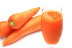 Carrot juice and carrot Royalty Free Stock Photography