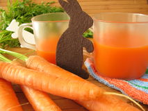 Carrot juice for children Royalty Free Stock Photography