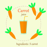Carrot juice flat  Stock Photo