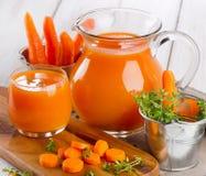 Carrot juice Stock Image
