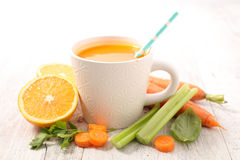 Carrot juice. With fresh ingredients Royalty Free Stock Images