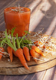 Carrot juice and fresh Stock Image