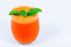 Carrot juice with fruit juicers Stock Photo