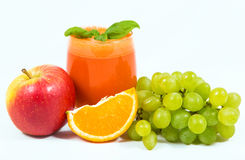 Carrot juice with fruit juicers Stock Photos