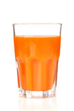 Carrot juice in glass Royalty Free Stock Photos