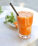 Carrot juice. Glass of tasty carrot juice Royalty Free Stock Photos