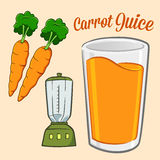 Carrot Juice Ingredients  Royalty Free Stock Photo