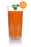 Carrot juice isolated Stock Photo