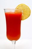 Carrot juice and lemon Royalty Free Stock Photos
