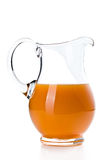Carrot juice in pitcher Royalty Free Stock Image