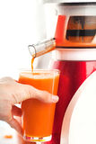 Carrot juice. Royalty Free Stock Images
